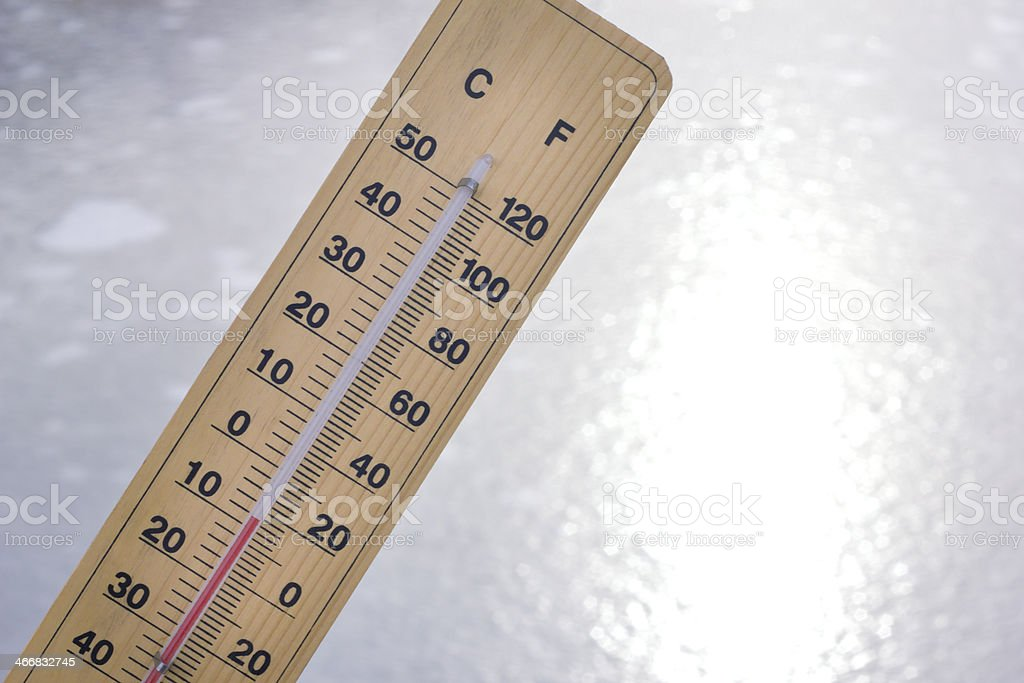 below zero Celsius stock photo