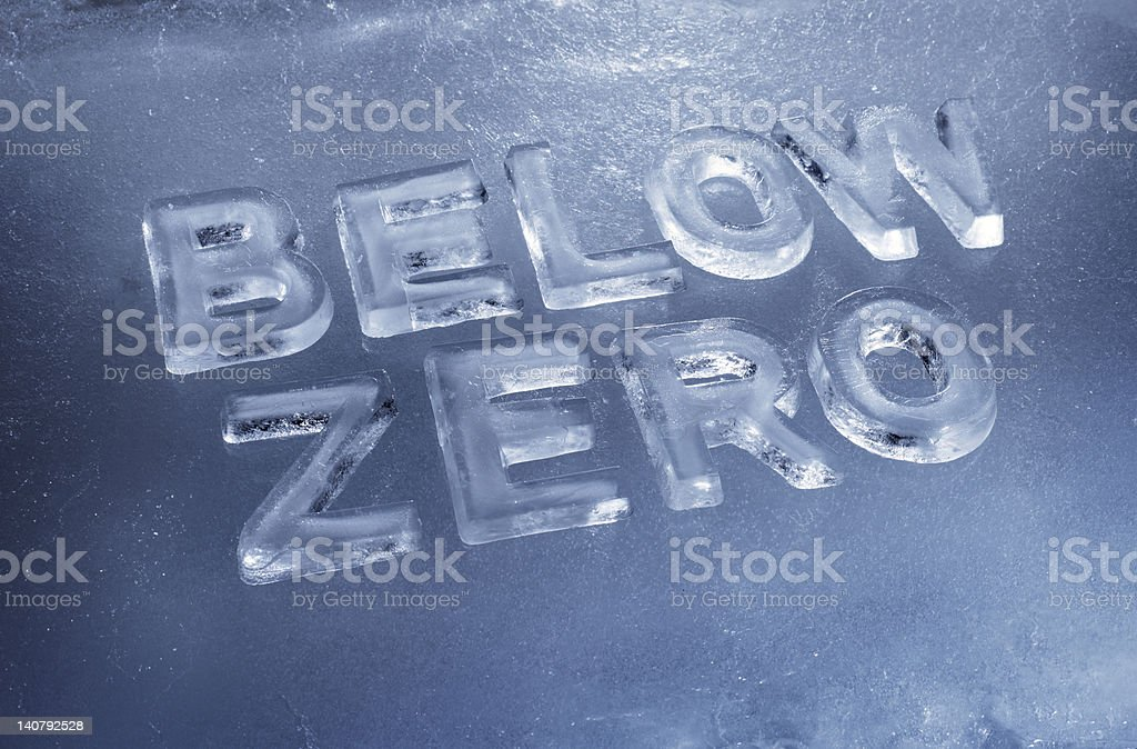 Below Zero stock photo