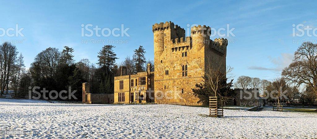 'Belsay Castle, Ponteland, Newcastle, Northumberland, UK' stock photo