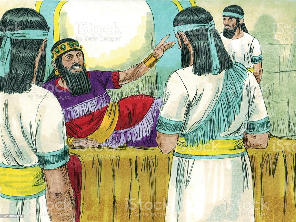 Belshazzar Becomes King royalty-free stock photo