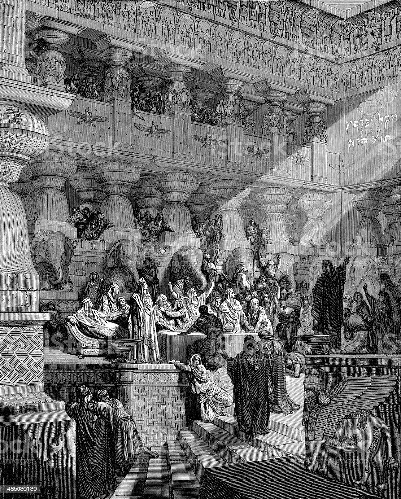 Belshazzar's Feast - Biblical Story stock photo