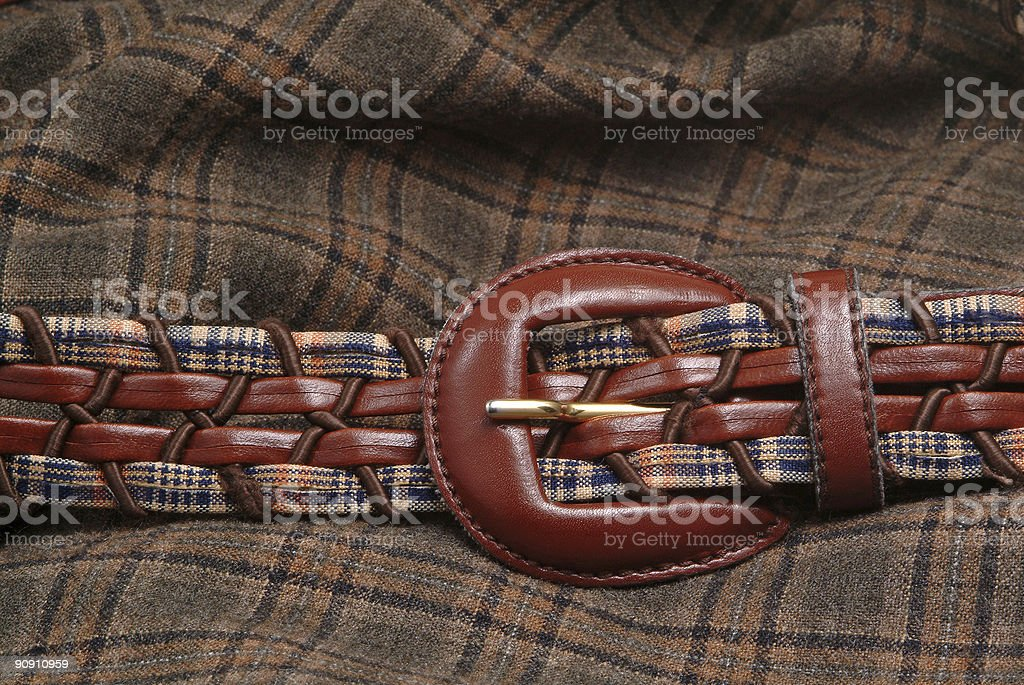 Belt and fabric royalty-free stock photo