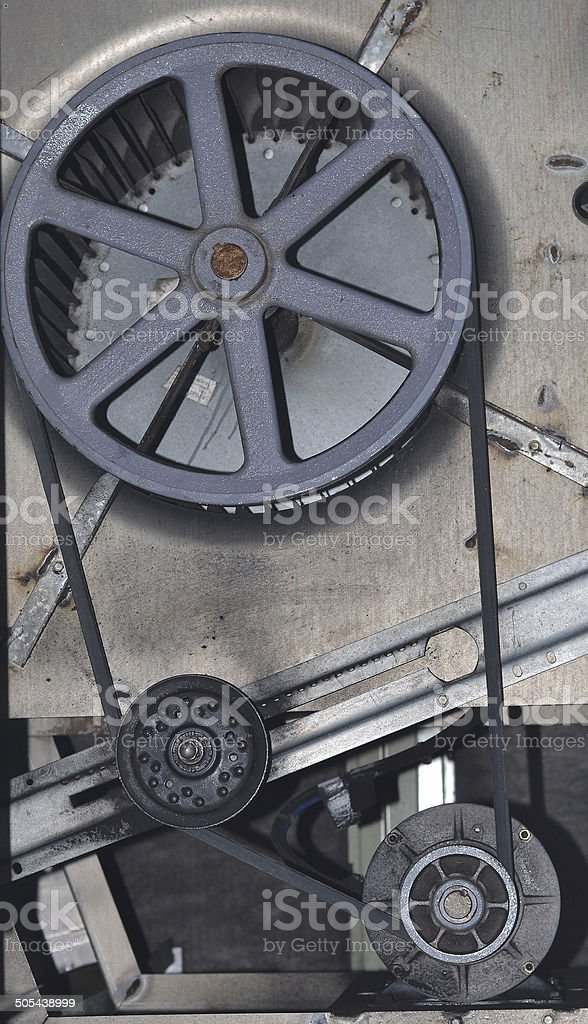 Belt and Pulley for HVAC system stock photo