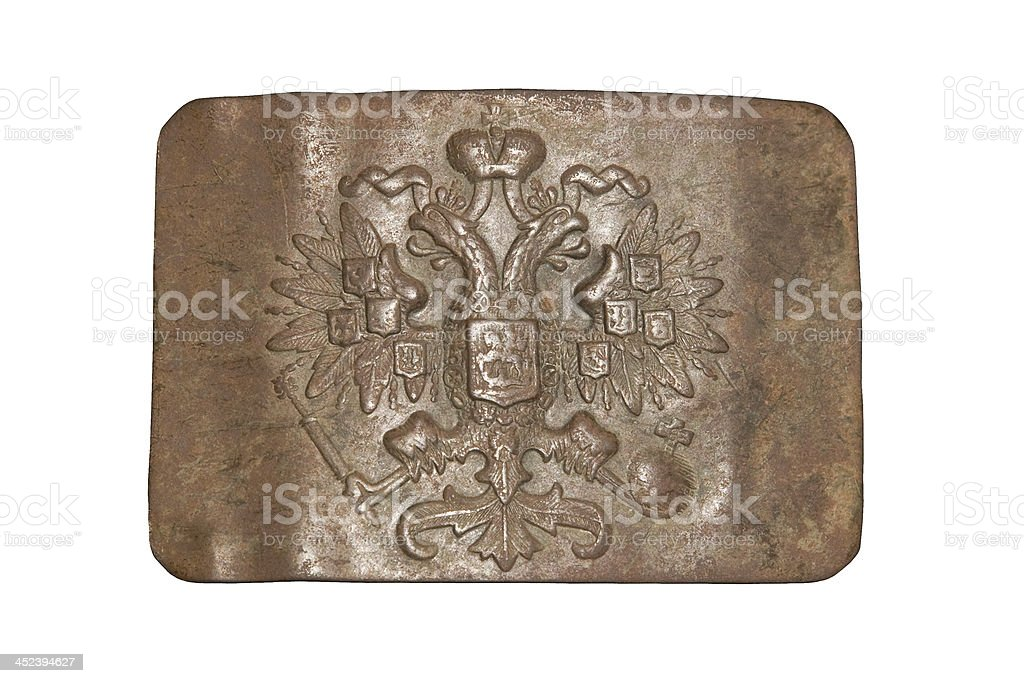 belt buckle of the Russian Imperial Army stock photo