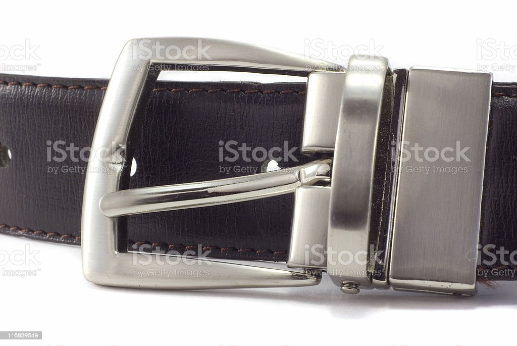 Belt buckle. royalty-free stock photo