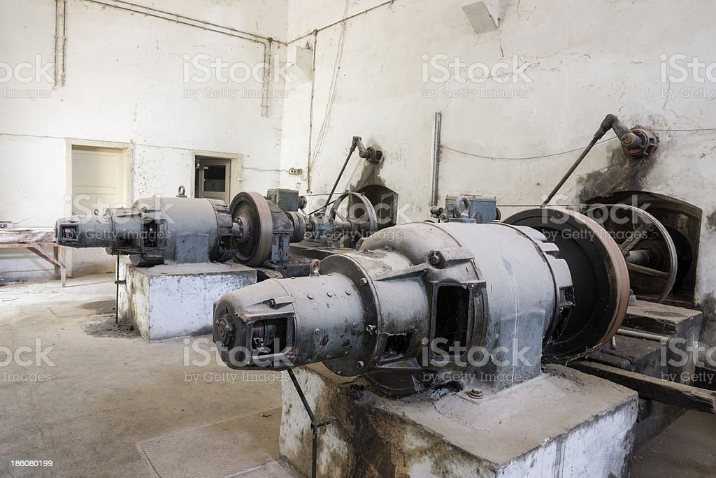 Belt drived electric generator royalty-free stock photo