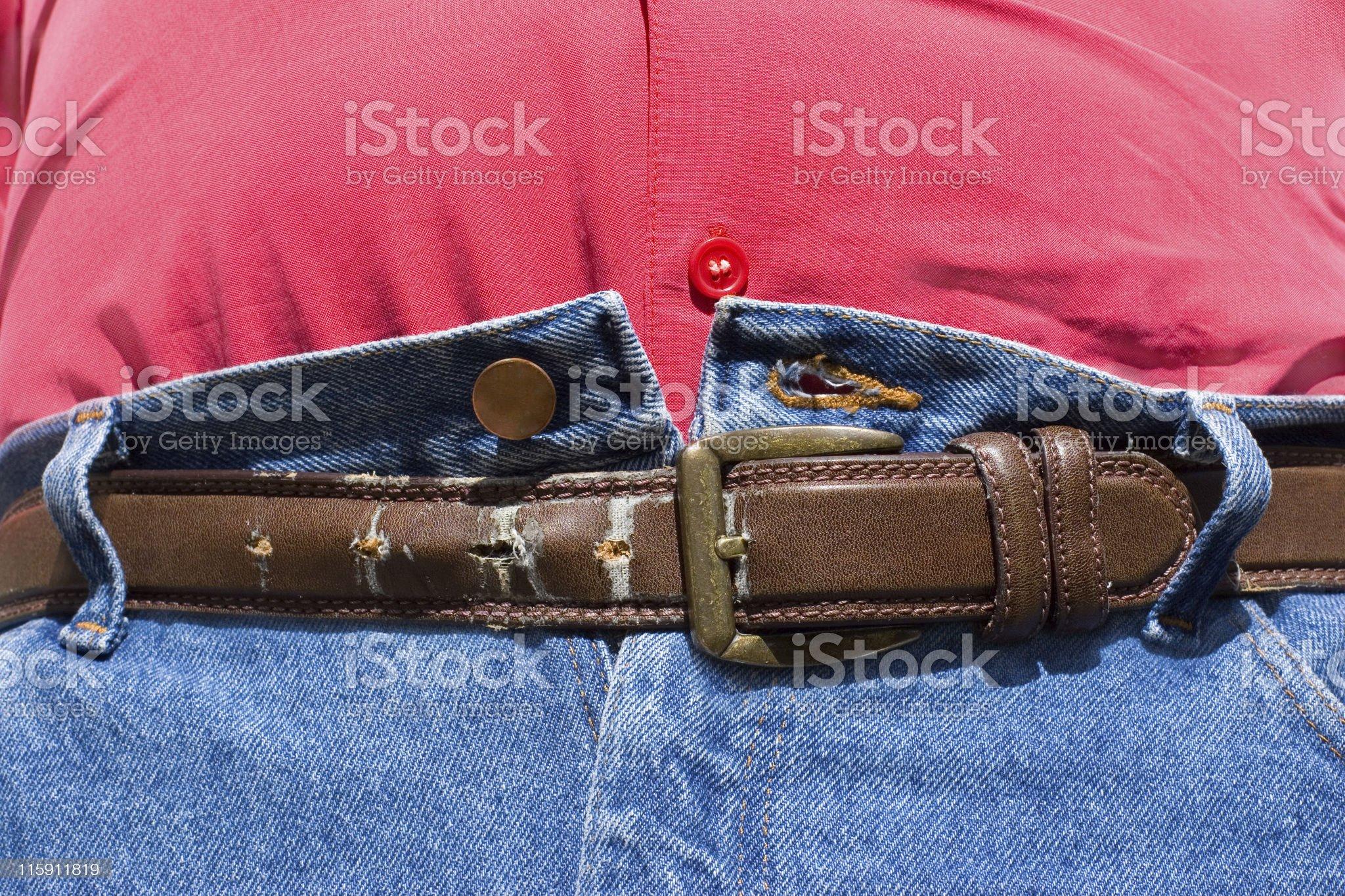 Belt Last Hole royalty-free stock photo