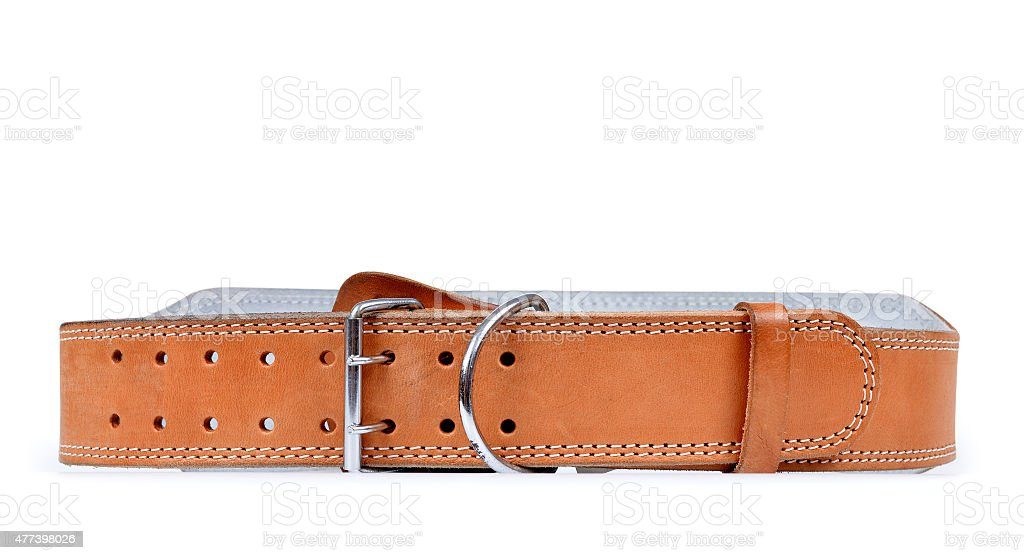 Belt used for strength training or weightlifting stock photo