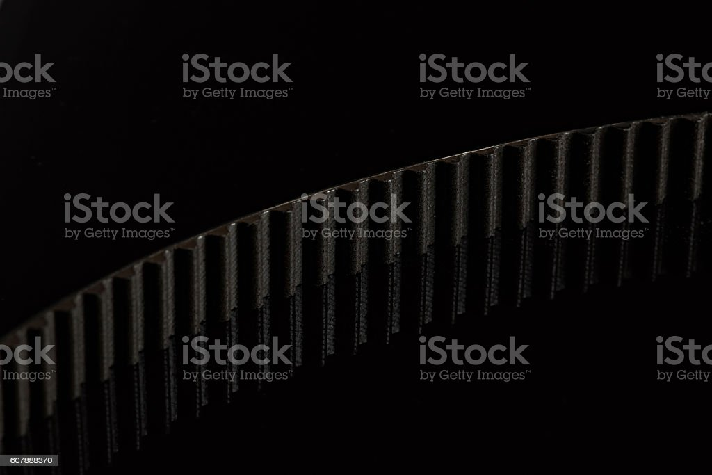 belt with teeth stock photo