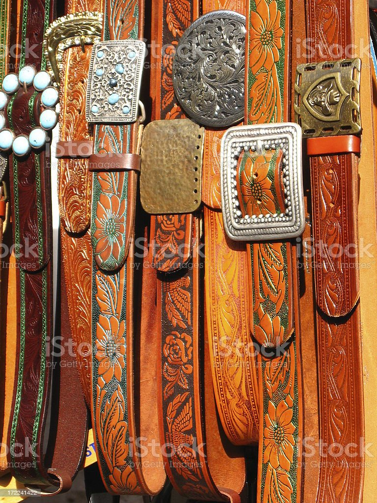 Belts and Buckles royalty-free stock photo