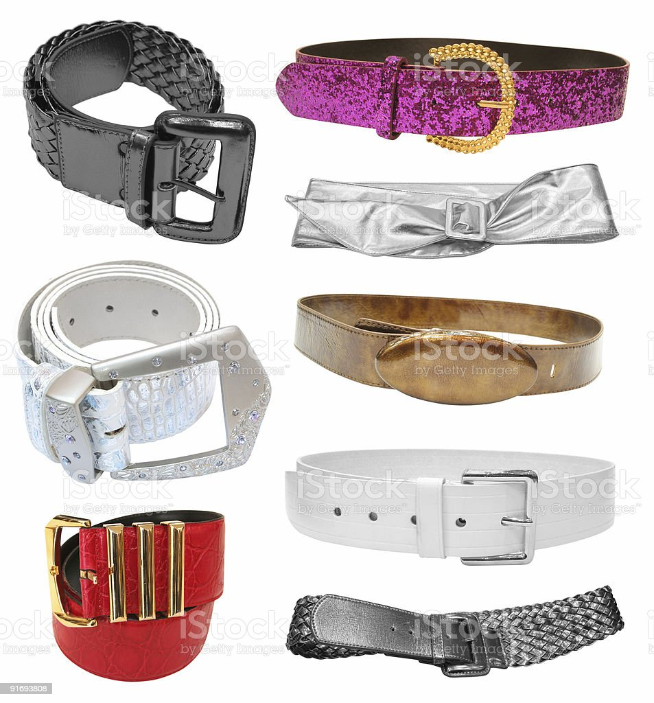 belts isolated on white royalty-free stock photo