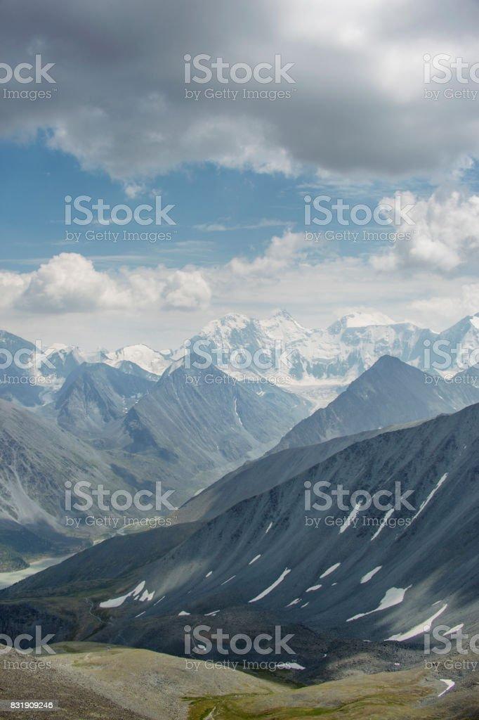 Beluha Mountain, pass Karaturek. Altai, Russia stock photo