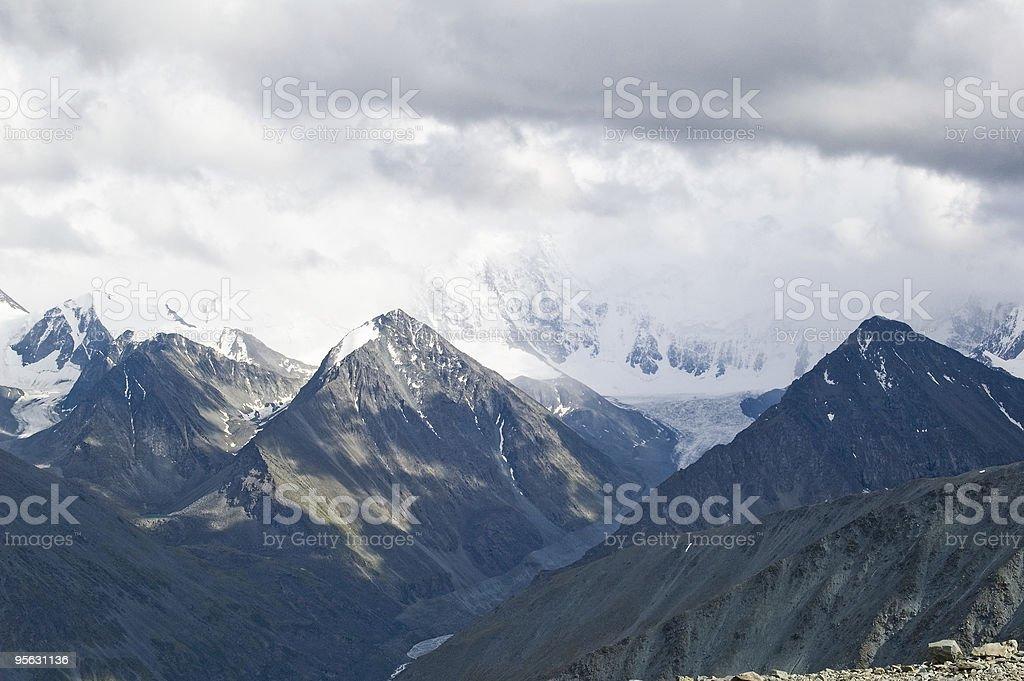 Beluha range stock photo