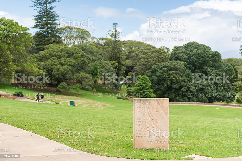 Belvedere Amphitheatre in Centennial Park Sydney stock photo