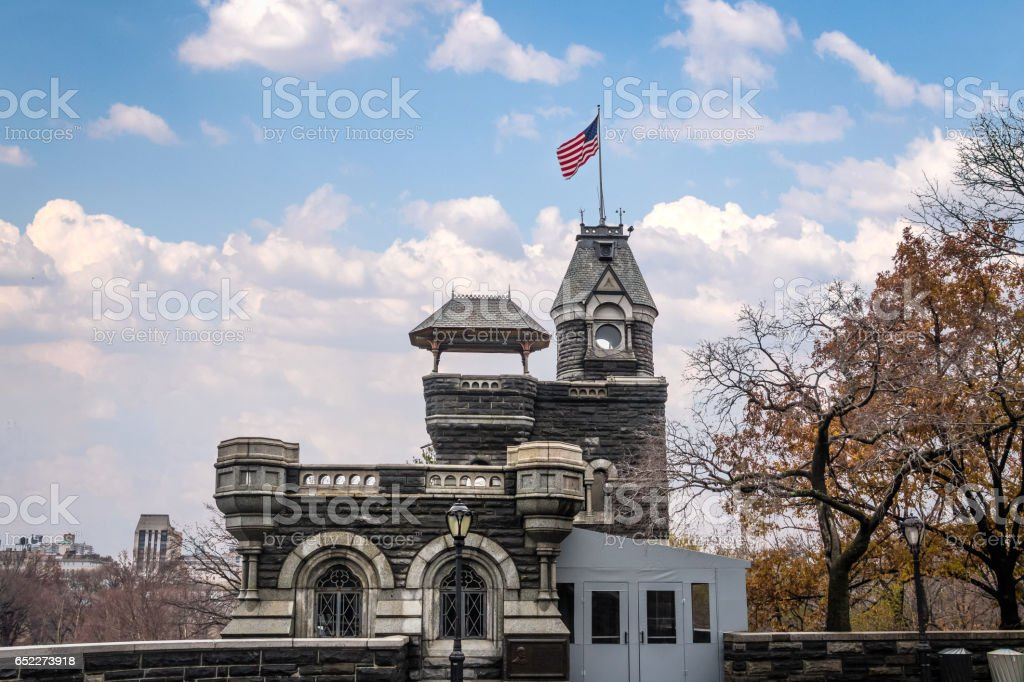 Belvedere Castle at Central Park - New York, USA stock photo