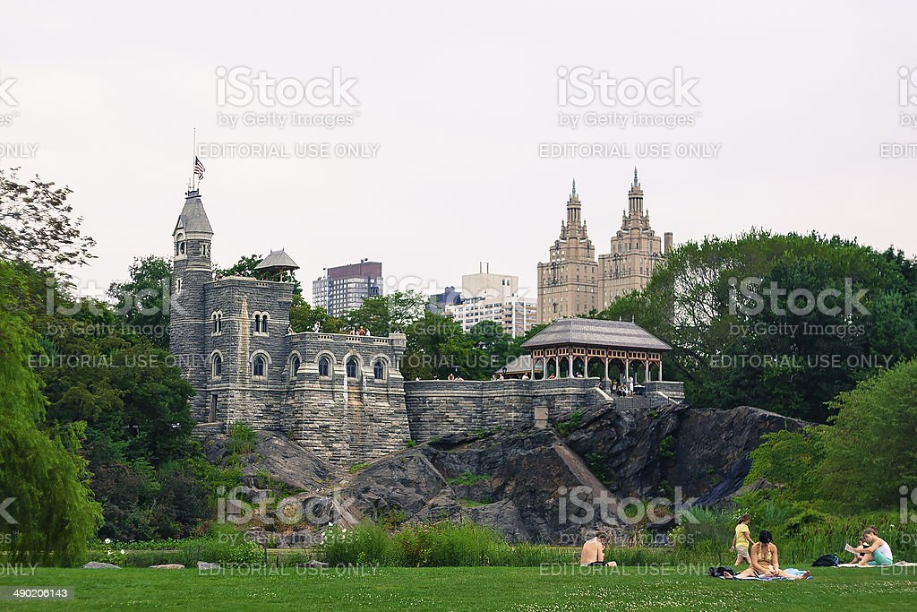 Belvedere Castle at Central Park stock photo
