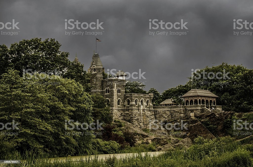 Belvedere Castle in Central Park stock photo