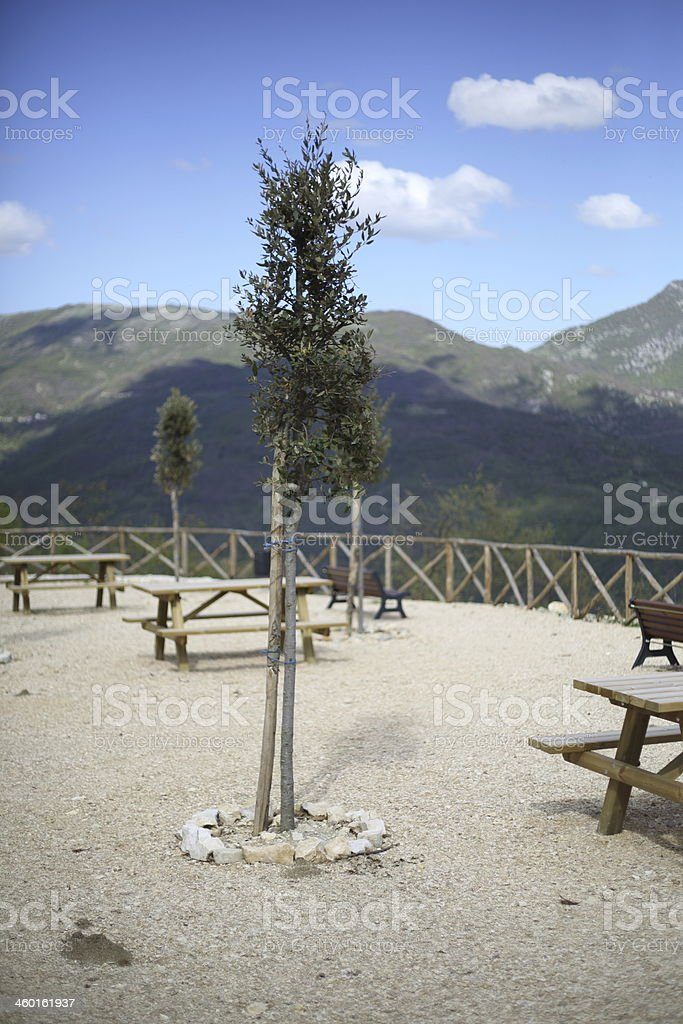 Belvedere Colle di Tora royalty-free stock photo
