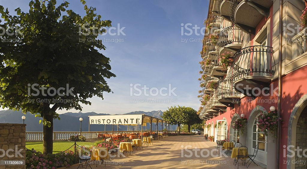 Belvedere in the Italian Lake District. royalty-free stock photo