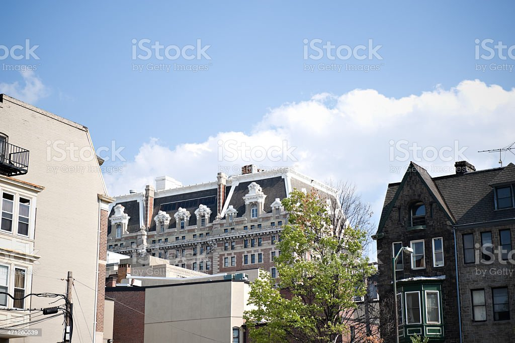 Belvedere in the Mount Vernon District of Baltimore Maryland stock photo