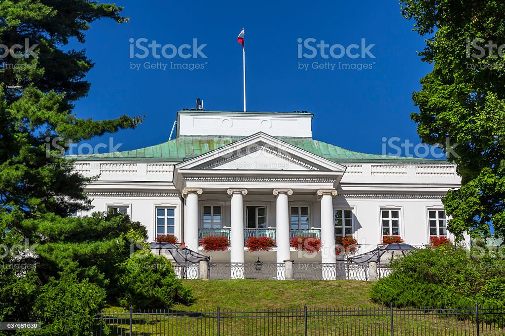 Belvedere in Warsaw, Poland stock photo
