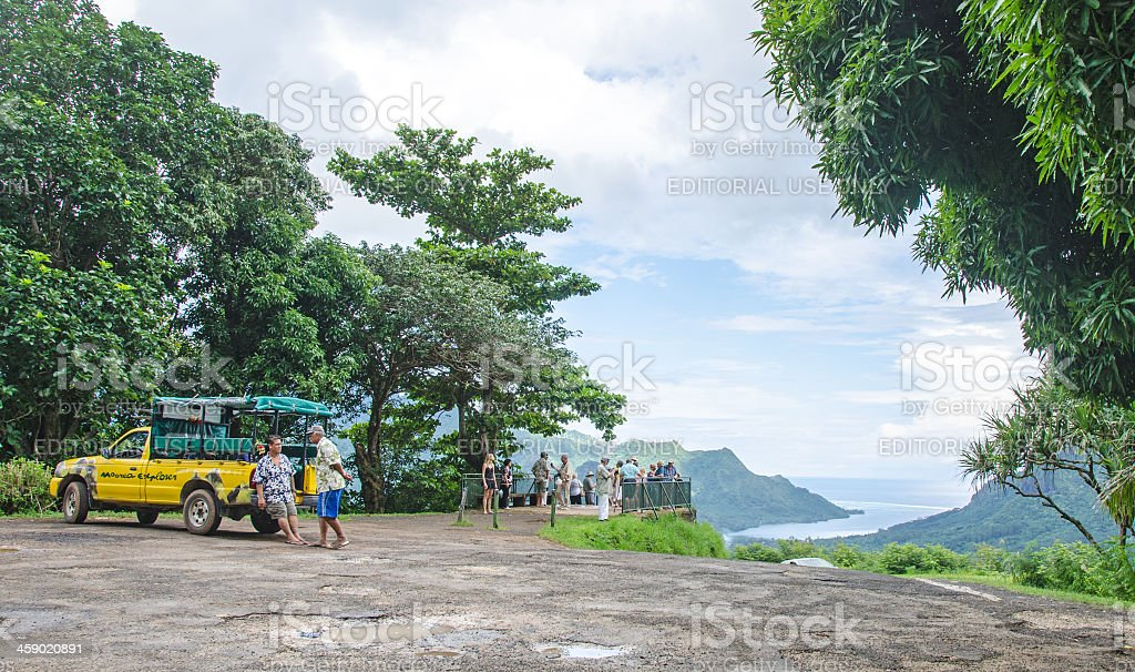 Belvedere Lookout on the Island of Moorea royalty-free stock photo