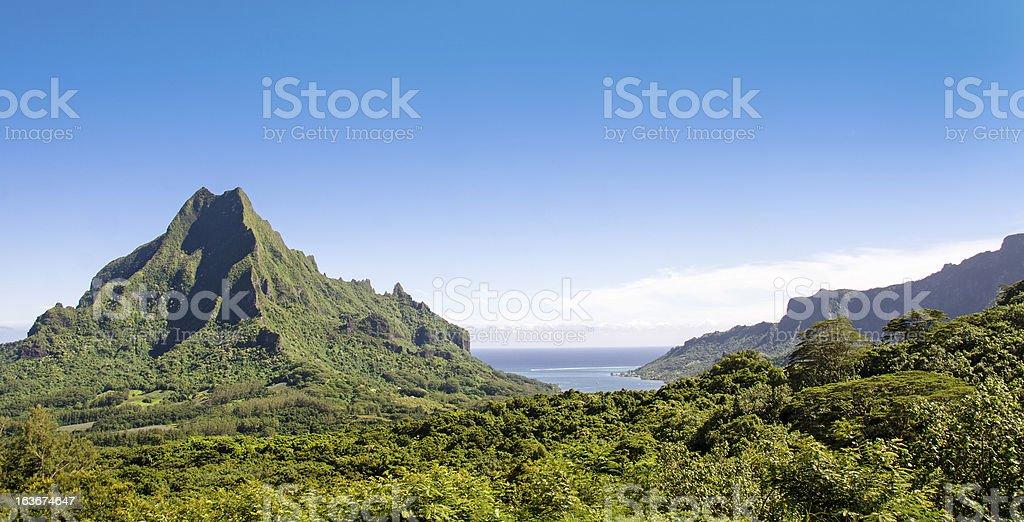 Belvedere Lookout  Scenic View ... Moorea stock photo