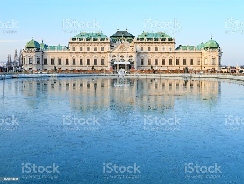 Belvedere Palace, Vienna royalty-free stock photo