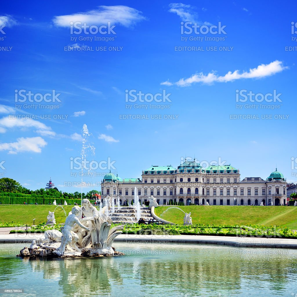 Belvedere palace, Vienna stock photo