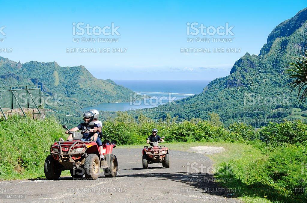 Belvedere Scenic View and Quads ... Moorea stock photo