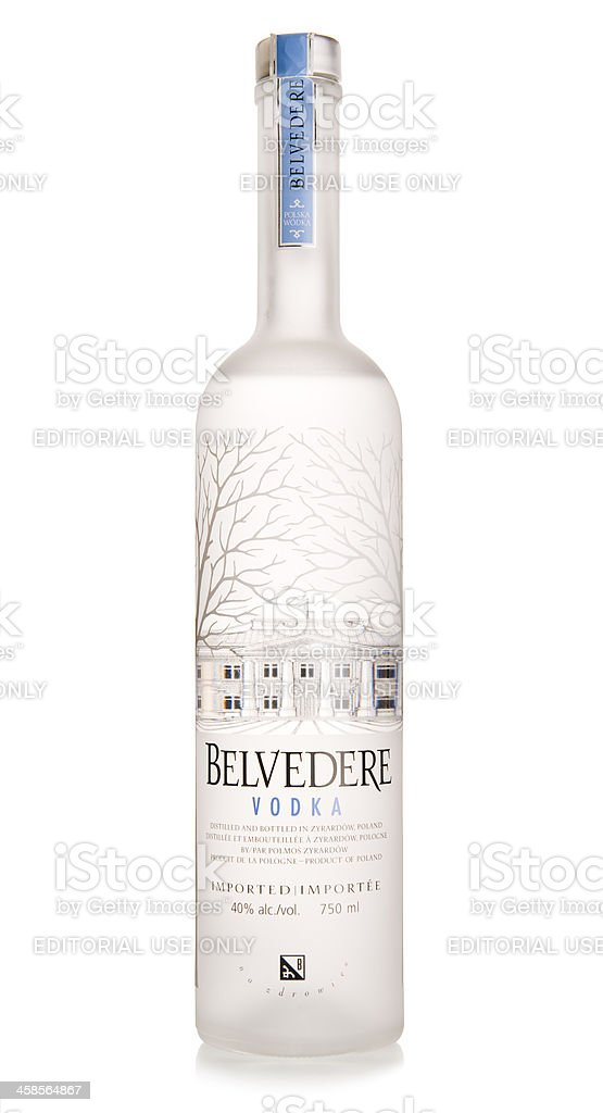 Belvedere Vodka bottle stock photo