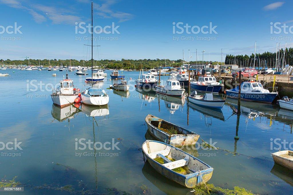 Bembridge harbour Isle of Wight stock photo