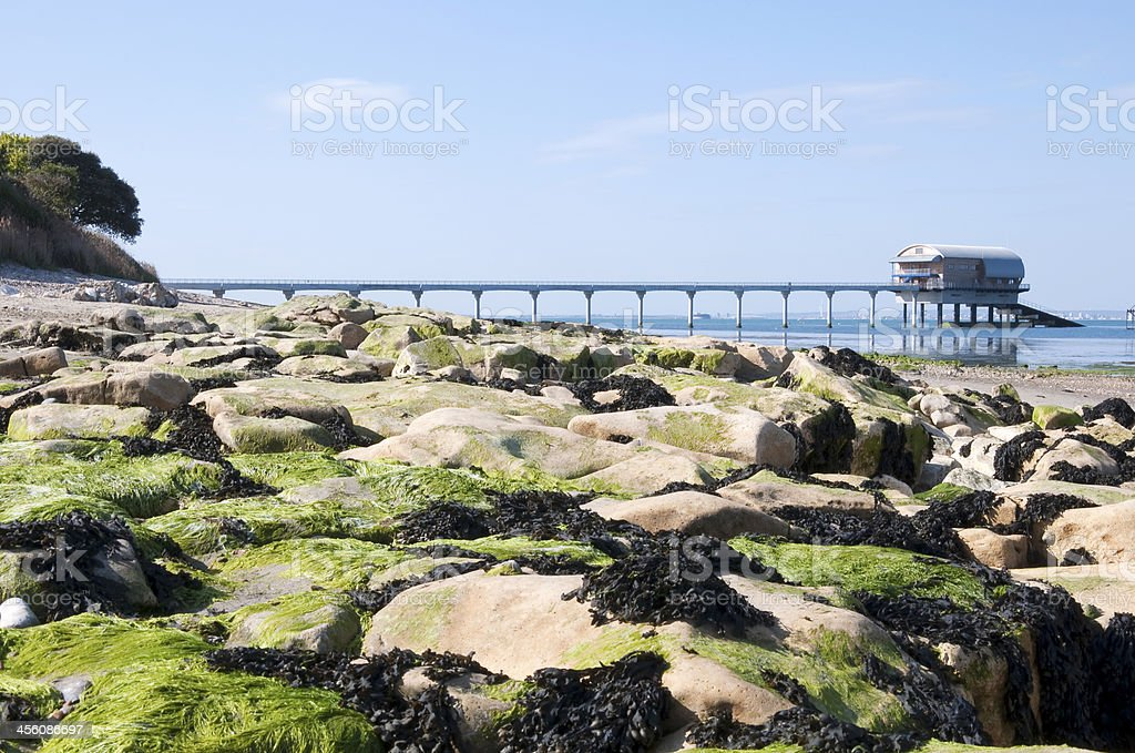 Bembridge Lifeboat Station and Pier stock photo