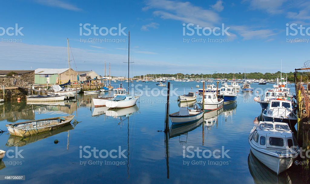 Bembridge St Helens harbour Isle of Wight stock photo