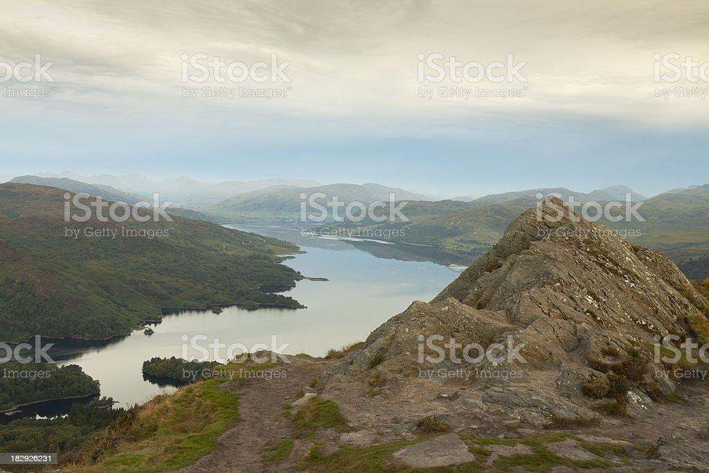 Ben A'an and Loch Katrine. stock photo