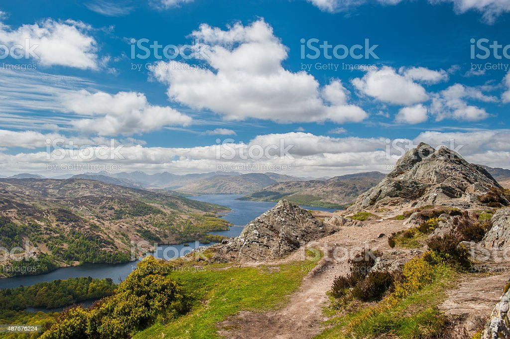 Ben A'an and Loch Katrine stock photo