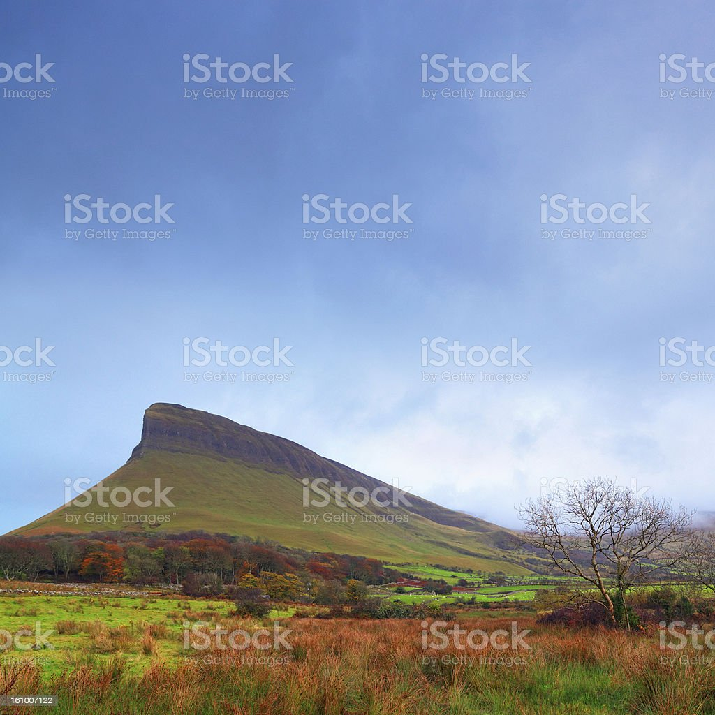 Ben bulben mountain in County Sligo, Ireland royalty-free stock photo