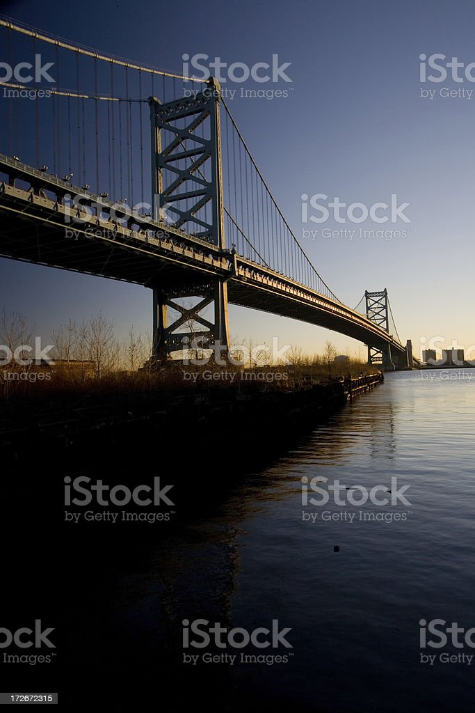 Ben Franklin Bridge, Philadelphia stock photo