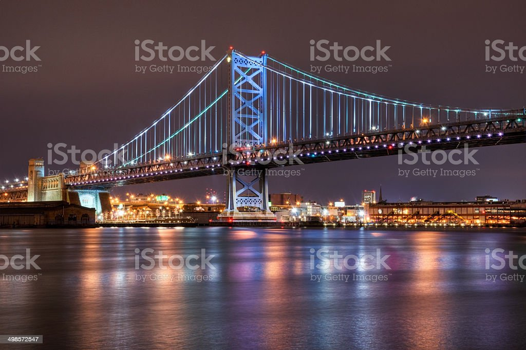 Ben Franklin Bridge, Philadelphia stock photo