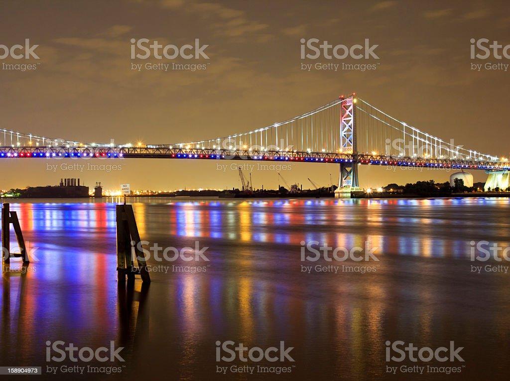 ben franklin bridge royalty-free stock photo
