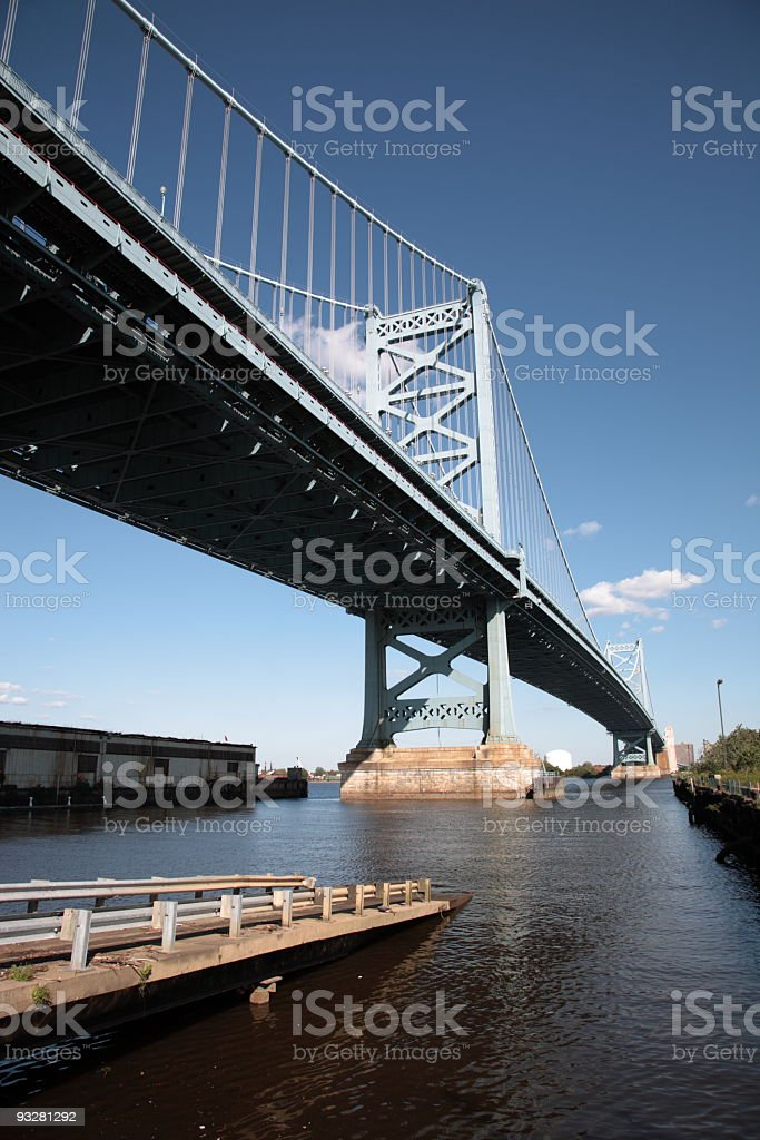 Ben Franklin Bridge stock photo