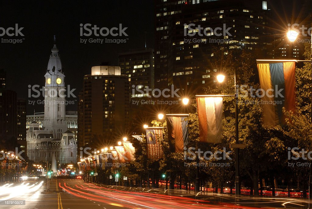 Ben Franklin Parkway royalty-free stock photo