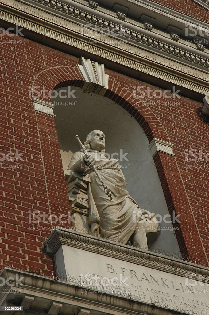 Ben Franklin statue royalty-free stock photo