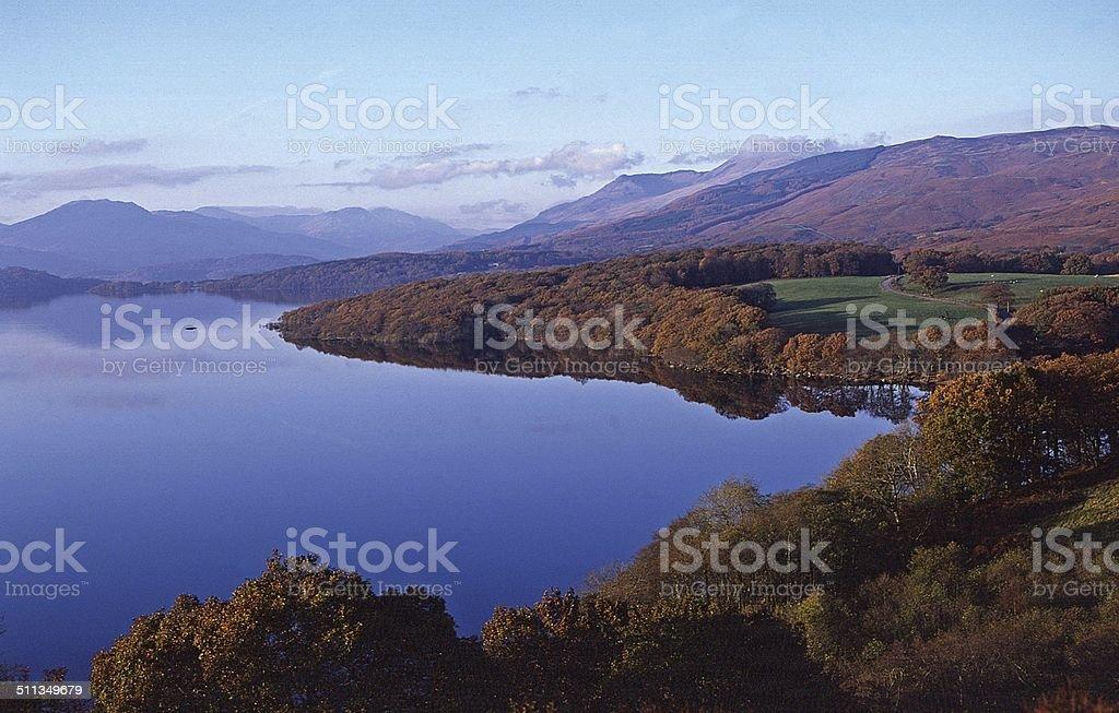 Ben Lomond and Loch Lomond Autumn stock photo