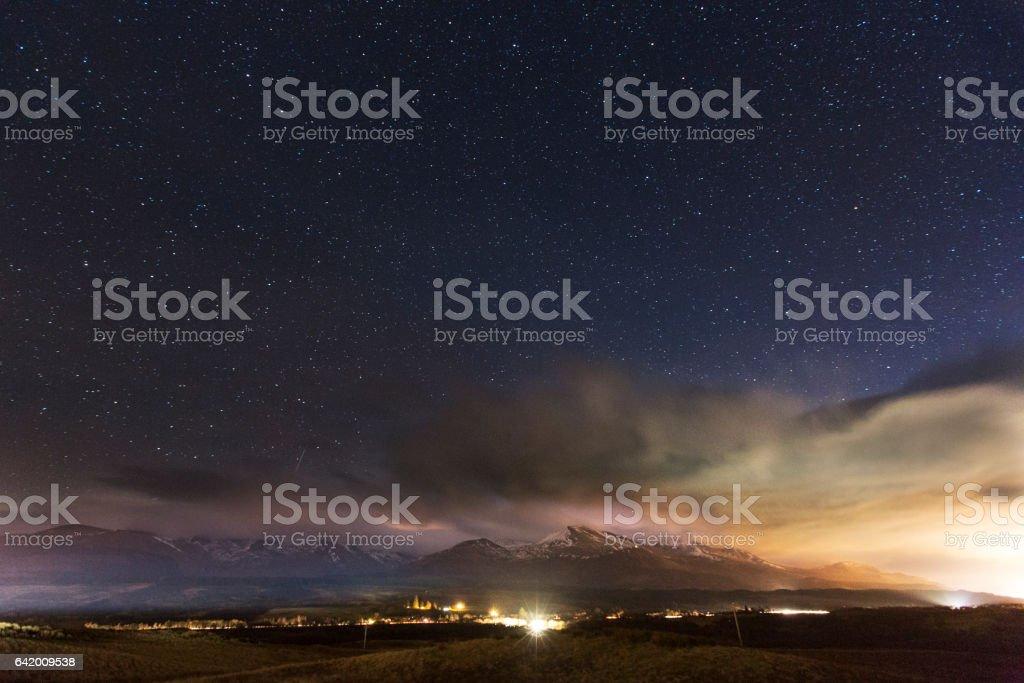 Ben Nevis at Night stock photo