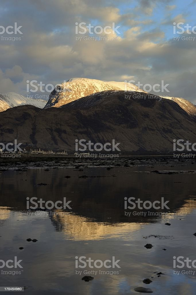 Ben Nevis portrait royalty-free stock photo