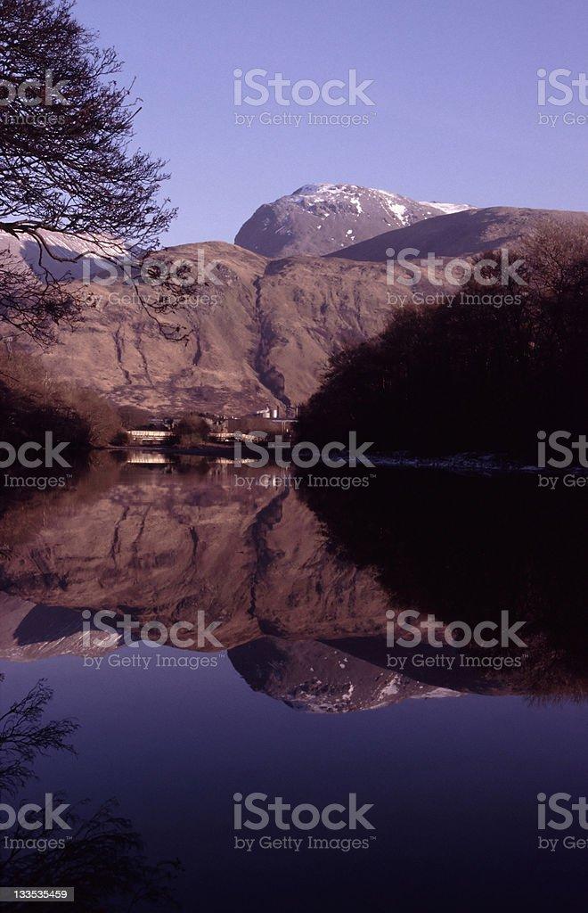 Ben Nevis reflection, Scotland royalty-free stock photo