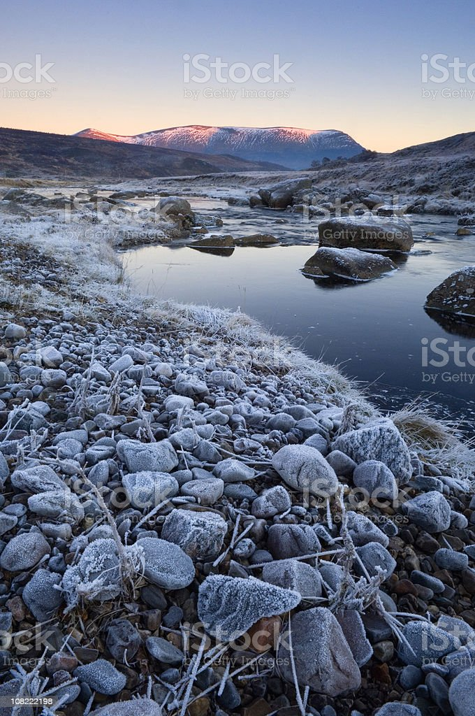 Ben Wyvis at sunset royalty-free stock photo