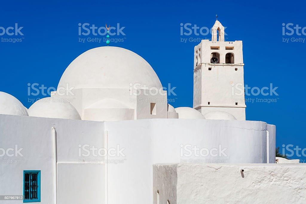 Ben Yala Mosque near Erriadh , Djerba , Tunisia stock photo