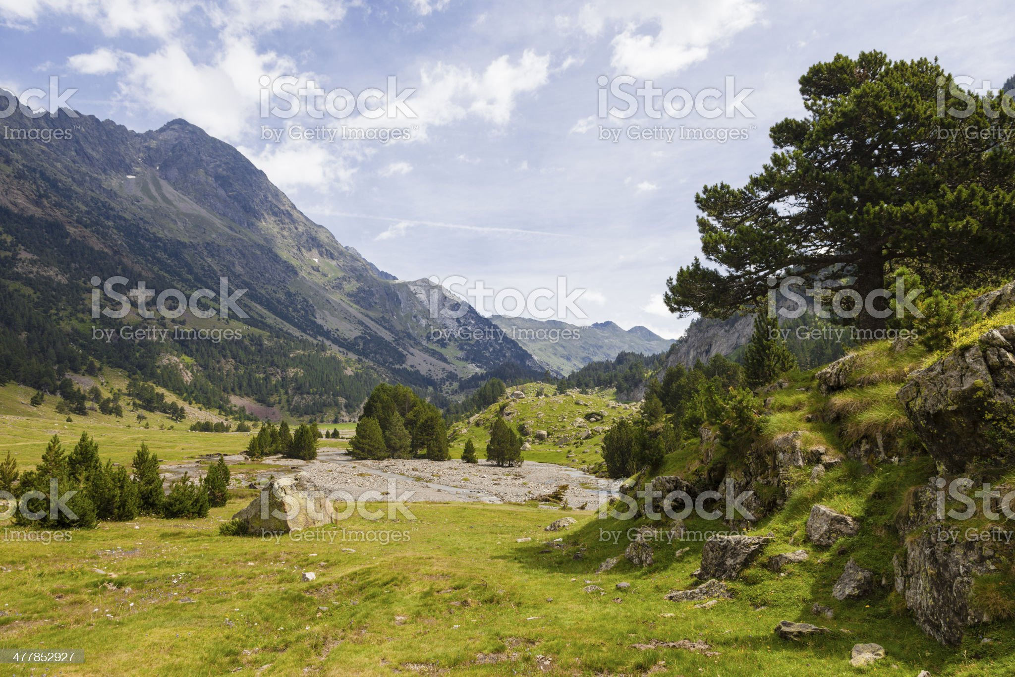 Benasque Valley royalty-free stock photo